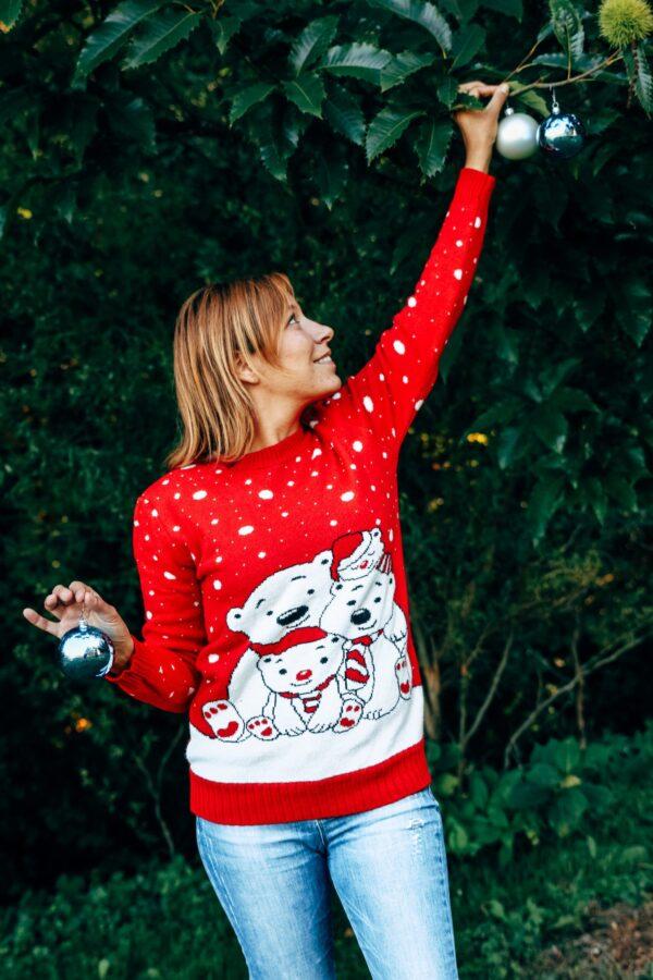 Božični pulover Medvedek