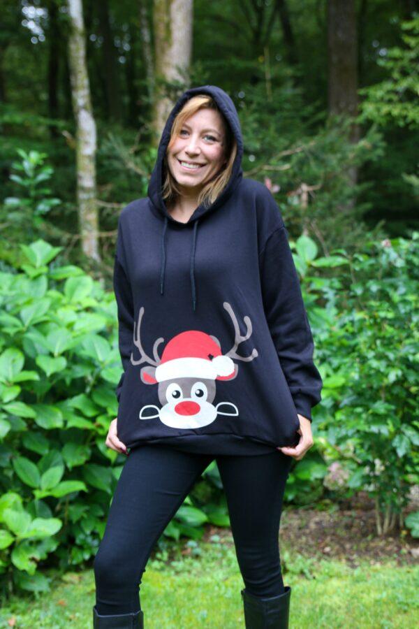 Božični daljši pulover Jelenček