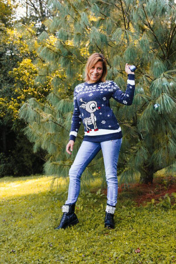 Božični pulover Jelenček
