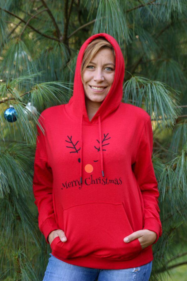 Božični pulover Red Merry Christmas