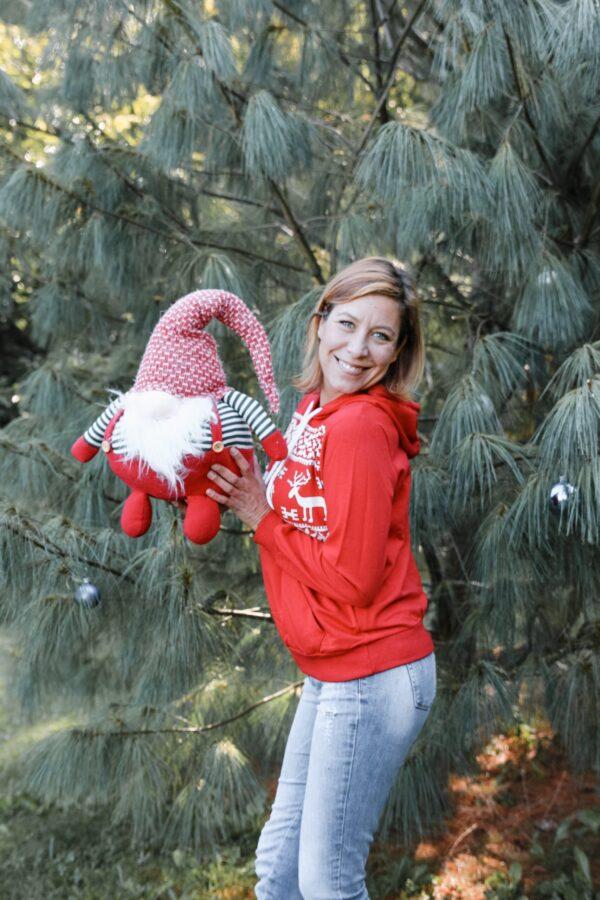 Božični pulover Red retro